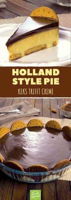 Dieser Pie ist eine kleine Sünde allemal wert! #rezept #rezepte #ohnebacken #pie #kuchen #torte #kekse #kondensmilch #cremig #hollandstyle