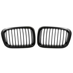 uxcell Matte Black Kidney Grille Grill for BMW 3 Series 98-01 E46 320i 323i 325i 328i 330i 4 Door. For product info go to:  https://www.caraccessoriesonlinemarket.com/uxcell-matte-black-kidney-grille-grill-for-bmw-3-series-98-01-e46-320i-323i-325i-328i-330i-4-door/