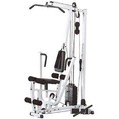 The EXM1500S Selectorized Home Gym gives you more for your money than any other home gym on the market and it includes a Lifetime Warranty on everything - forever -period.  http://www.fitnesslyceum.com