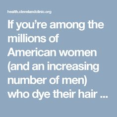Image result for dangers of chemical hair dyes