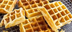 These Belgian waffles are crunchy on the outside, light and fluffy on the inside, and the beautiful, rich buttermilk flavor kicks Bisquick's butt any day. Buttermilk Waffles, Waffle Machine, Brunch, Waffle Cake, Griddle Cakes, Belgian Waffles, Bisquick, Waffle Recipes, Deserts