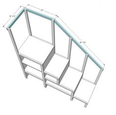 Sweet Pea Garden Bunk Bed Storage Stairs