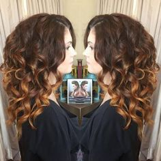brown curly ombre hair