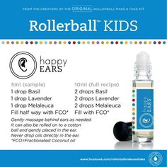 Kids essential oil roller bottle recipe: happy ears!