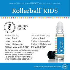 Kids essential oil roller bottle recipe: happy ears!