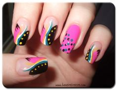 Do Not Refreeze: Easy Peasy Nail Art: Abstract