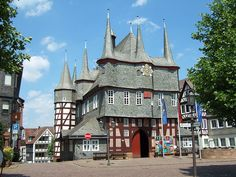 Townhall with 10 Towers in historical town Frankenberg Eder in Hesse, Germany.