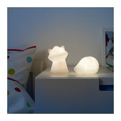 LURIGA LED night light, white, hedgehog - - - IKEA Inside/on top of the storage cube. Rechargable battery, soft light, touch-on and touch-off. Luminaire Led, Led Lampe, Ikea Night Light, Ikea Canada, Fear Of The Dark, Luminous Flux, Wishes For Baby, Kids Lighting, Chill Pill