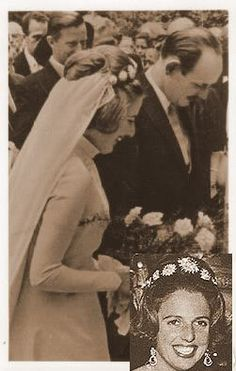 A previous wearer of the Baden sunburst tiara, Bermhard's mother, Archduchess Valerie of Austria wore the piece when she wed Maximilian, Margrave of Baden, on 30 September 1966