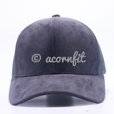 0798ae726bf Suede Trucker Hat Wholesale  Charcoal