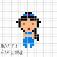 Hama Style & Amigurumis: Marcapáginas princesas DISNEY - HAMA MINI [PLANTILLAS]