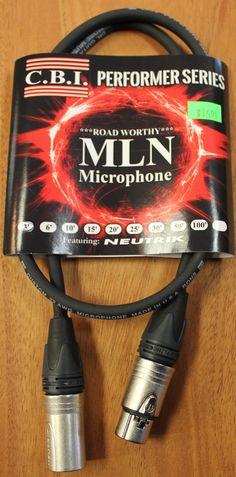 C.B.I MLN Performer Series 3' XLR Microphone Cable