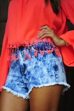 Top Of The World High Waisted Shorts