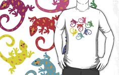 #lizards #colorful #design #tshirt #cute #reptiles #diamonds