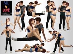 Okay so its been a while since I released one … ouch. I feel a little lazy … But I found a bunch of poses that have been from my story and a few that I made to add to it. It's all dedicated to couples...