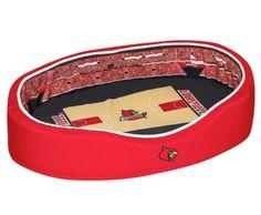 Louisville Cardinals Official NCAA Pet Stadium Crib - Large