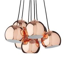 Koge Ball Multi Pendant, Stainless steel, Copper, x Copper Material, Copper Metal, Glass Chandelier, Pendant Lamp, Rose Gold Lights, Rose Gold Accessories, Copper Decor, Stair Lighting, Light Bulb Wattage