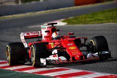 Sebastian Vettel (GER) Ferrari SF70H.  09.03.2017. Formula One Testing, Day Three, Barcelona, Spain. Thursday