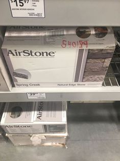Wow! We weren't expecting THIS. Create an amazing fireplace with airstone tiles! #fireplace #airstone