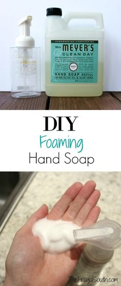 Don't buy soap for YEARS! Save money and time with homemade DIY foaming hand soap.