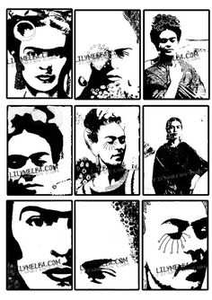 Digital Stamp 3..... A4 digital download collage by Lilysart1