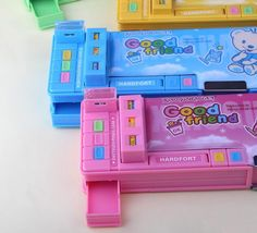 Does your pencilbox do this? Get yours now at Good Friend Multi-Compartment With Buttons Pencil Box Organizing Toys, Toy Organization, Pencil Boxes, Pencil Pouch, Kitchen Cabinets Design Layout, Sailor Moon Merchandise, Cute Pencil Case, Cute Pens, Barbie Life