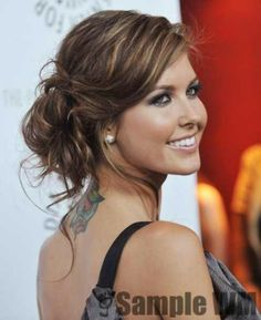 #audrina patridge #messy updo #tan