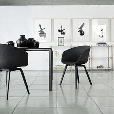 About A Chair by Danish brand Hay is a collection with outstanding simplicity in design. The result of close collaboration between Hee Welling and HAY, the idea behind the About A Chair collection was to develop a chair with conspicuous simplicity, a chair which works well around the dining table, around a conference table, as well as in a restaurant, cafeteria or at the office. The chairs are simple and plain and can because of that be combined without any problems with other furniture and ...