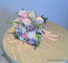 Delicate Elegance Events:  Pink Vintage Wedding - Bridal Bouquet
