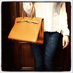 Today I'm Wearing a gold togo birkin with a Topsho shirt and JBrand jeans #qgifts #qgiftsloves  http://instagram.com/p/aaow7bJdwm/
