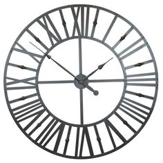 Large Rustic Metal Skeleton Wall Clock from metal and battery powered finished in metal paint. This clock measures over a meter long, to be exact, it's a very large wall clock.