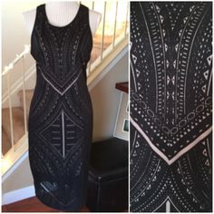 """NWT Black Nude-Lined Midi Dress NWT Semi racer back, stretchy, and lined down to knee. Gorgeous to dress up or down. Kept a different size. Bust about 38"""" and length about 44"""". Nice slip stops at about 34-35"""". Dresses Midi"""