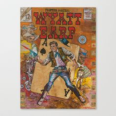 Wyatt Earp Stretched Canvas by Ray Stephenson - $85.00
