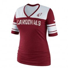 Arizona Cardinals Ladies Touchdown 3/4 Sleeve Top