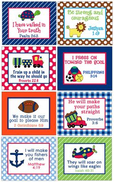 memory verse cards - I put little notes  in the girls lunchboxes.  I'm thinking these might work well and serve 2 purposes. :)