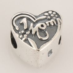 Antique Solid Sterling 925 Silver Charms Beads [Tunnel of Hearts] Fit European Bracelets, DIY Bead, Love, Heart, Mom's Day, Gift by TaoTaoHas on Etsy