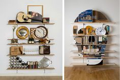 London-based artist James Hopkins' series Vanitas is quite a clever, modern take on this still life genre.    The artist uses everyday items like books, clocks, guitars, mirrors, and wine glasses to form the suggestion of a skull head across a row of six bookshelves.  Make sure you click through to see them all.