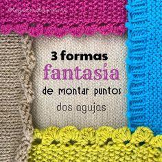 3 formas fantasía de montar puntos en dos agujas o palitos Knit Crochet, Crochet Hats, It Cast, Stitch, Blanket, Beads, Knitting, Instagram Posts, Handmade