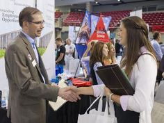 Opportunities Abound: Job & Internship Fair connects students with prospective employers and alumni.