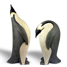 Ceramics by Paul Smith at Studiopottery.co.uk - 2013. Emperor Penguins