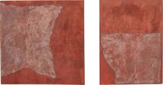 Form on Rust VIII and IX (diptych) (2011) by Diane Englander