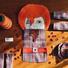 Making more Bowie dolls #mandarinasdetela #etsy #wip #bowiedoll #magic