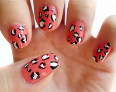 Leopard Print Nail Art Step-By-Step Tutorial