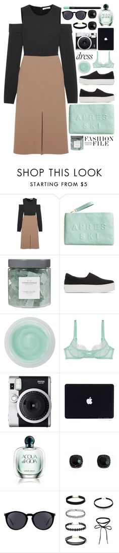 """""""Color Block Dress"""" by seannna-hale ❤ liked on Polyvore featuring TIBI, H&M, Threshold, Opening Ceremony, Omorovicza, L'Agent By Agent Provocateur, Fuji, Giorgio Armani, Yves Saint Laurent and NARS Cosmetics"""