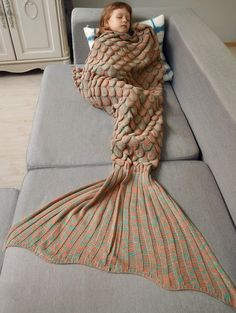 need me one of these!| Fish Scaled Wrap Mermaid Blanket For Kids