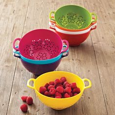 Sur La Table Mini Colanders at Sur La Table... Ooooh! I want <3 in different sizes & metal :)
