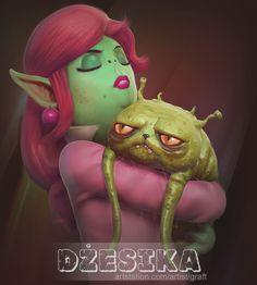 ArtStation - Dżesika, Brain Graft