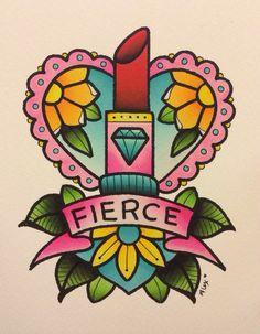 Fierce Lipstick Print by Alex Strangler by AlexStrangler on Etsy, $15.00