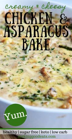 Low Carb Breakfast Recipes – The Keto Diet Recipe Cafe Best Asparagus Recipe, Asparagus Recipes Oven, Baked Asparagus, Chicken Asparagus, Creamy Chicken, Asparagus Casserole, Chicken Casserole, Casserole Recipes, Keto Recipes
