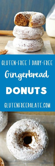 Did someone say Gluten-Free Gingerbread Donuts? Tender, fluffy donuts with hints of ginger, cinnamon, and nutmeg - the ultimate gingerbread treat. via @gfpalate